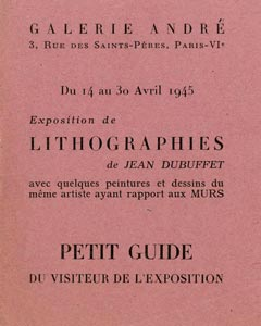rare catalogue de Dubuffet