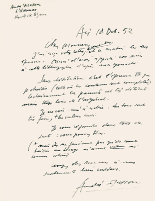 André Masson Archives Mourlot