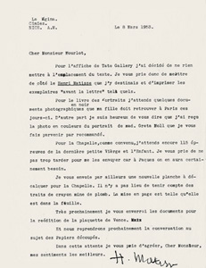 Matisse Archives Mourlot