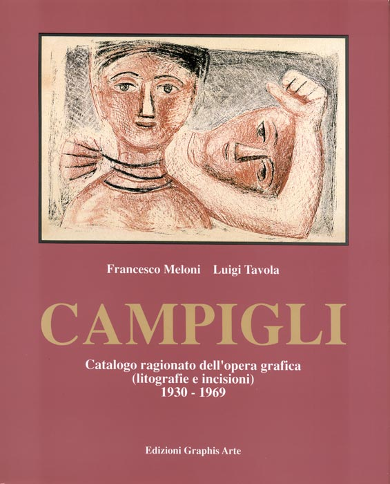 Massimo-Campigli-Catalogue-Offset-Opera grafica-Graphis arte, Livorno-1995