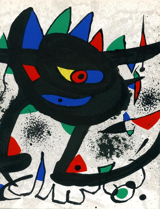 Joan-Miró-Catalogue-Lithographie-Miro, Paintings, Gouaches, Sobreteixims-Pierre Matisse gallery, New York-1973